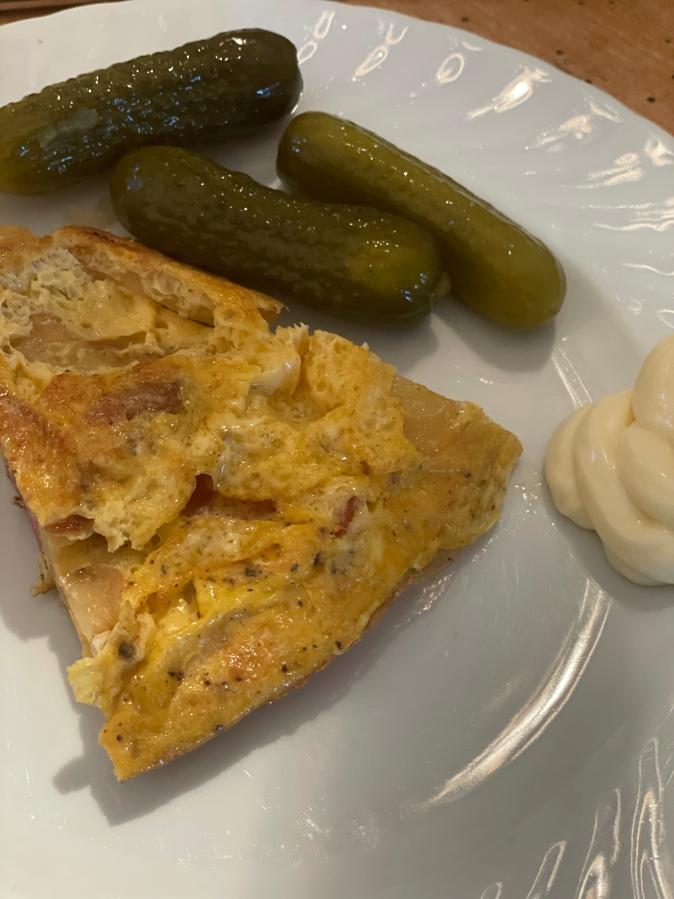 Bratkartoffel Tortilla mitWurst